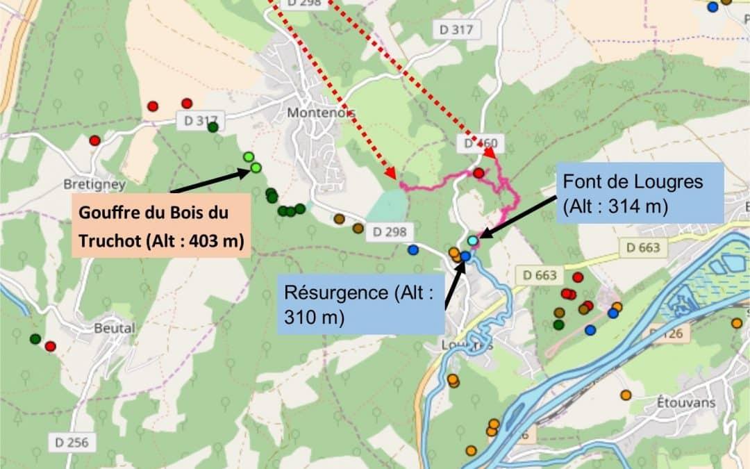 Projet de traçage au gouffre du Truchot – MONTENOIS 25